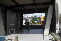 滋賀県 12坪のプレハブ冷凍庫の設置